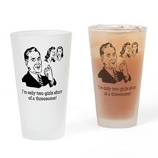 Two girls short Drinking Glass