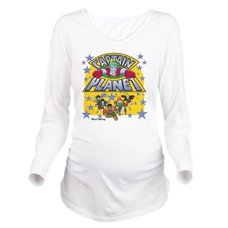 captainplanetoneTM Long Sleeve Maternity T-Shirt