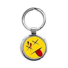 dbl tap Round Keychain