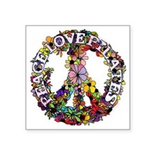 """peace love pilates with flo Square Sticker 3"""" x 3"""""""