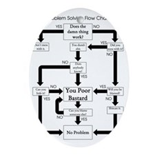 Problem Solving Flow Chart Oval Ornament