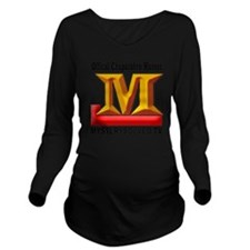 10x10-M-ChupaHunter Long Sleeve Maternity T-Shirt
