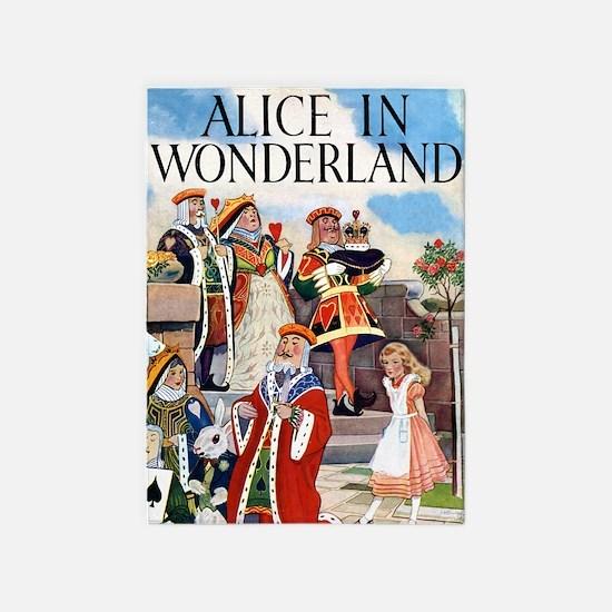 ALICE IN WONDERLAND001 5'x7'Area Rug