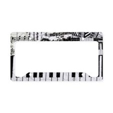 keyboard-cat-clutchbag License Plate Holder