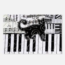 keyboard-cat-clutchbag Postcards (Package of 8)