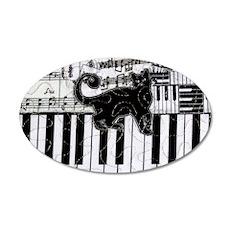 keyboard-cat-clutchbag 35x21 Oval Wall Decal