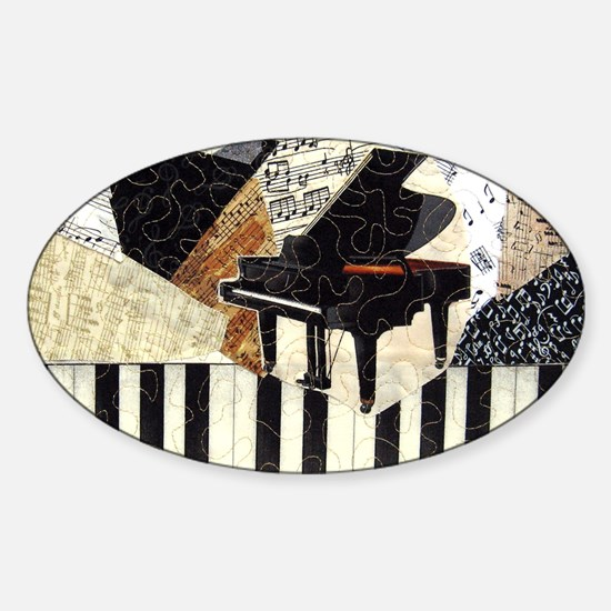 Piano-clutchbag Sticker (Oval)