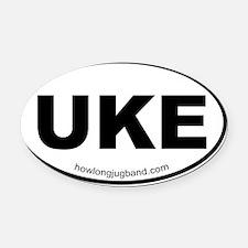 Ukulele Sticker Oval Car Magnet