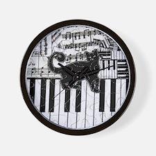 keyboard-cat-ornament Wall Clock
