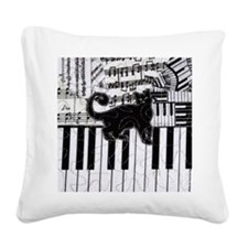 keyboard-cat-ornament Square Canvas Pillow