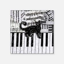"""keyboard-cat-ornament Square Sticker 3"""" x 3"""""""