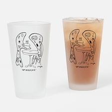 6743_bifurcation_cartoon Drinking Glass