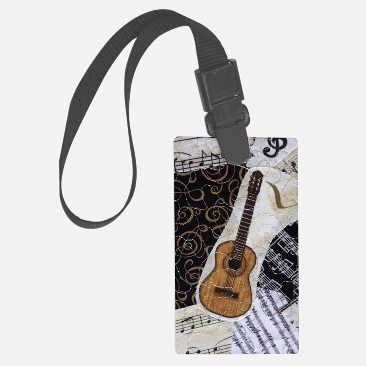 guitar-classical-ornament2 Luggage Tag