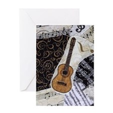 guitar-classical-ornament2 Greeting Card