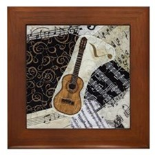 guitar-classical-ornament Framed Tile