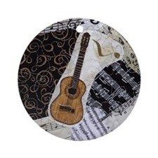guitar-classical-ornament Round Ornament