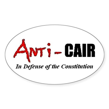 Anti-CAIR Oval Sticker