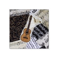 "guitar-classical-ornament Square Sticker 3"" x 3"""