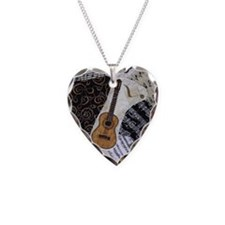 guitar-classical-ornament Necklace Heart Charm
