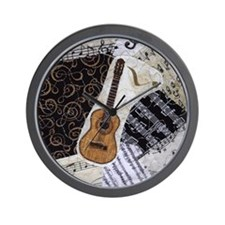 guitar-classical-ornament Wall Clock