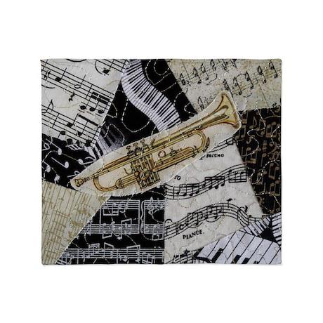 trumpet-ornament Throw Blanket