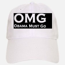 anti Obama OMGdbutton Baseball Baseball Cap