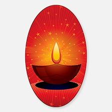 Diwali Festival of Lights Sticker (Oval)