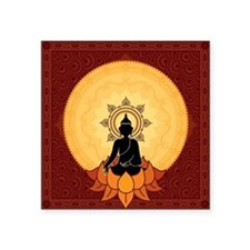 "Serene Buddha Artwork Square Sticker 3"" x 3"""