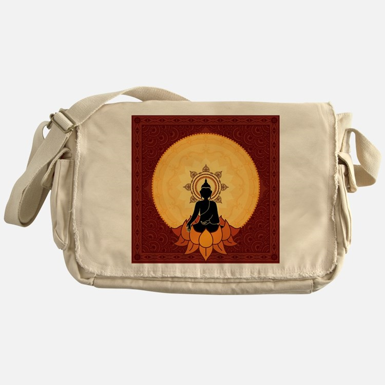 Serene Buddha Artwork Messenger Bag