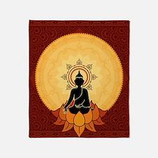 Serene Buddha Artwork Throw Blanket