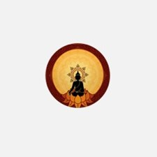 Serene Buddha Artwork Mini Button