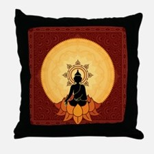 Serene Buddha Artwork Throw Pillow