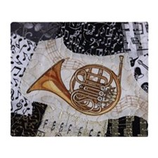 french-horn-ornament Throw Blanket