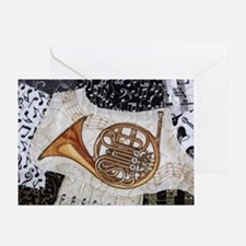 french-horn-ornament Greeting Card