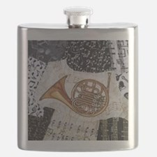 french-horn-ornament Flask