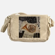 french-horn-ornament Messenger Bag