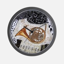 french-horn-ornament Wall Clock