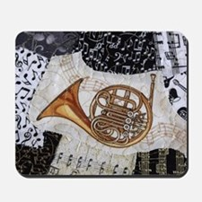 french-horn-ornament Mousepad