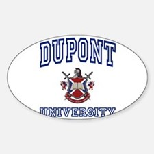 DUPONT University Oval Decal