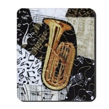 tuba-ornament Mousepad