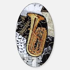 tuba-ornament Sticker (Oval)