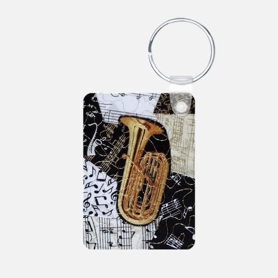 tuba-ornament Aluminum Photo Keychain