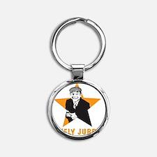 DEL1 Round Keychain