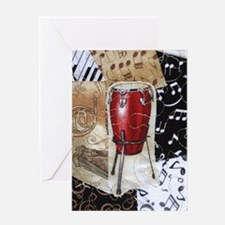 red-conga-drum-ornament Greeting Card