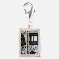 bass-clarinet-ornament Silver Portrait Charm