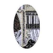 bass-clarinet-ornament Oval Car Magnet