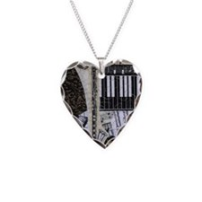 bass-clarinet-ornament Necklace Heart Charm