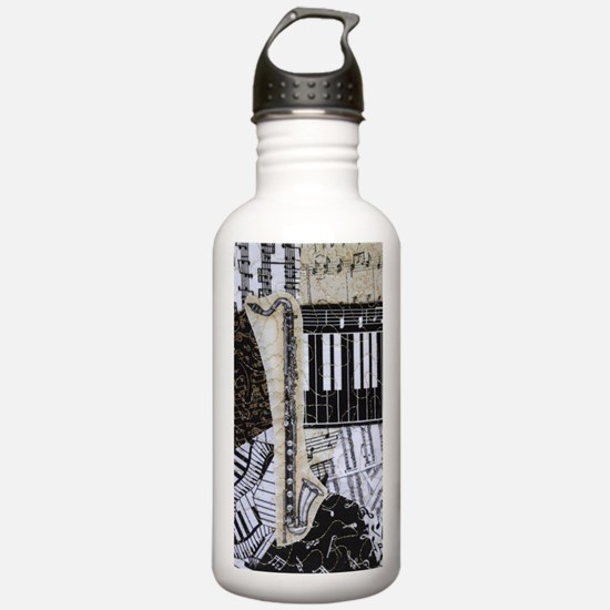 bass-clarinet-ornament Water Bottle