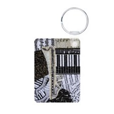 bass-clarinet-ornament Keychains