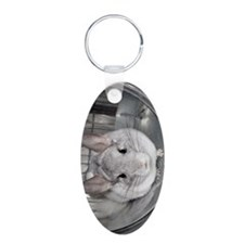 iTouch - Latte Aluminum Oval Keychain